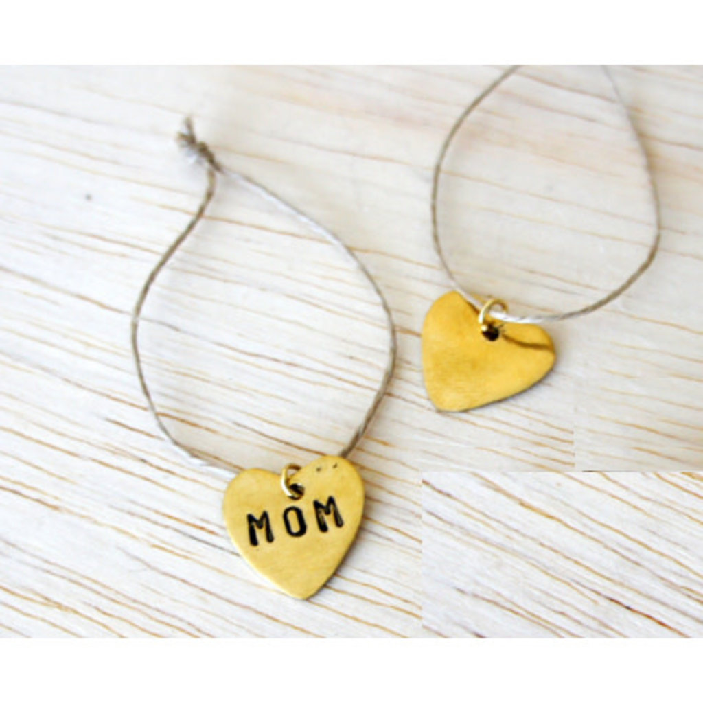 Venture Imports Recycled Brass Heart Charm