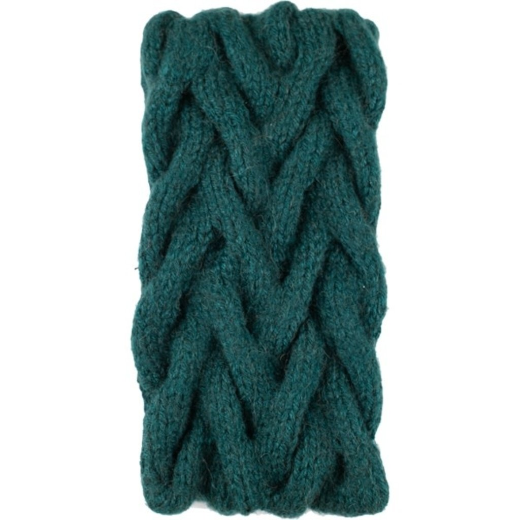 Andes Gifts Cable Knit Ear Warmer: Aqua