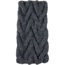 Andes Gifts Cable Knit Ear Warmer: Grey