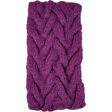 Andes Gifts Cable Knit Ear Warmer: Purple