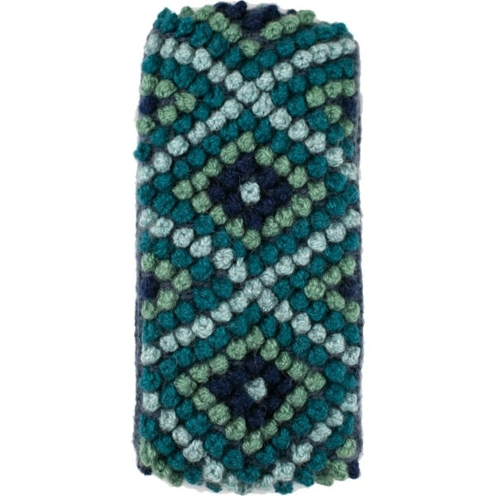 Andes Gifts Diamond Knit Ear Warmer: Aqua