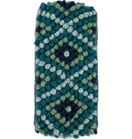 Andes Gifts Diamond Knit Ear Warmer: Aqua