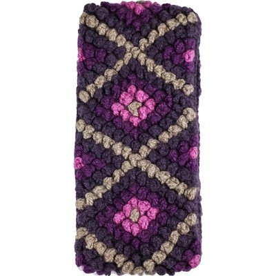 Andes Gifts Diamond Knit Ear Warmer: Grape