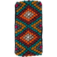 Andes Gifts Diamond Knit Ear Warmer: Sunset