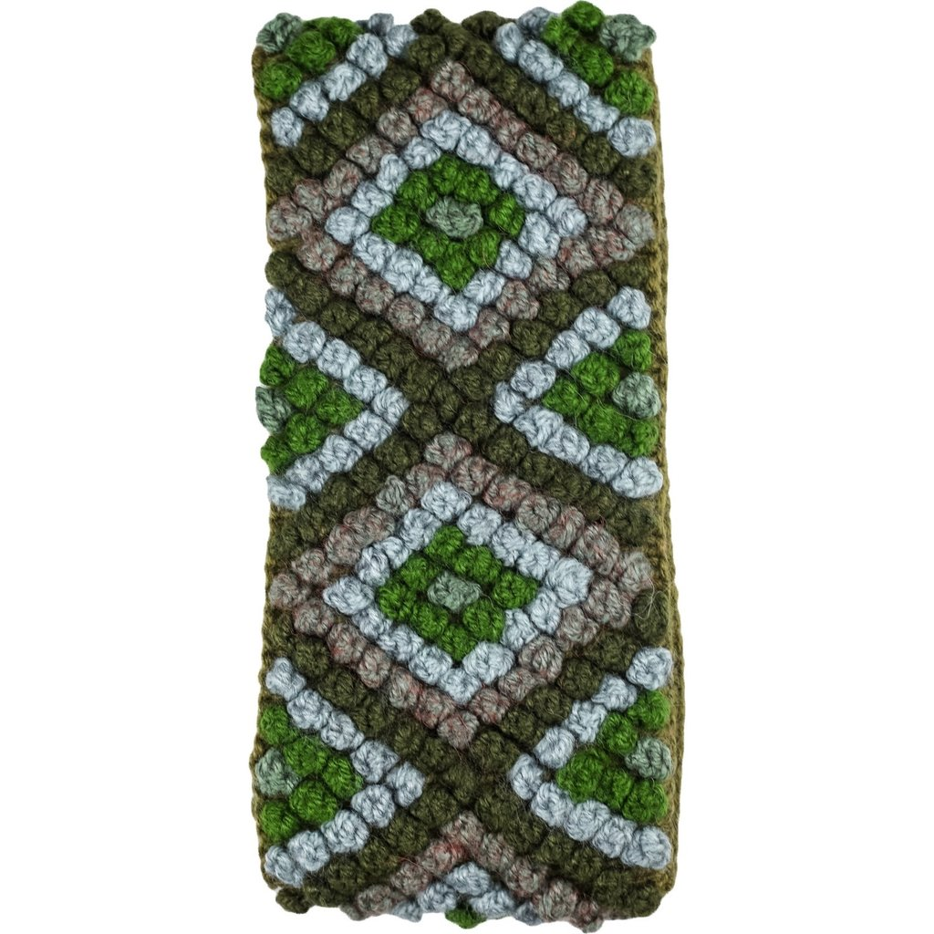 Andes Gifts Diamond Knit Ear Warmer: Green