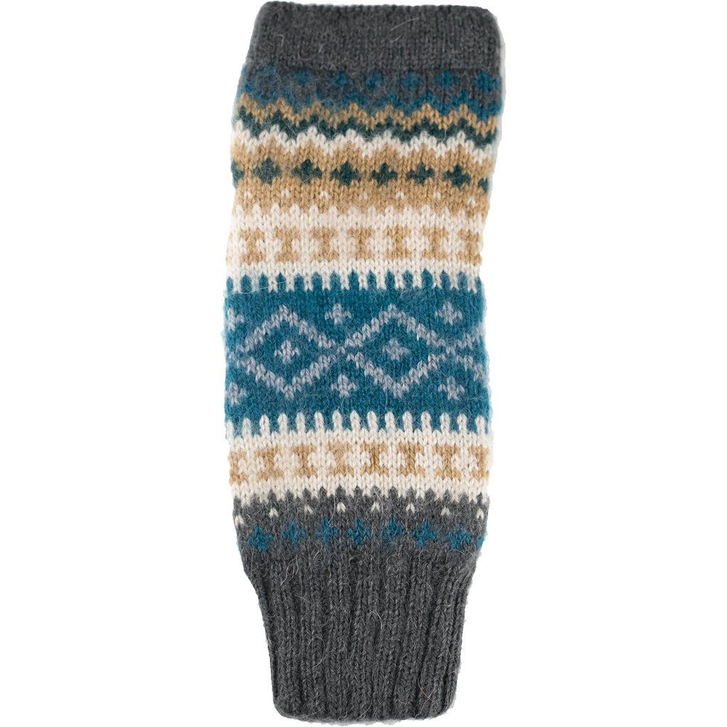 Andes Gifts Sierra Knit Arm Warmers: Aqua
