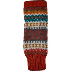Andes Gifts Sierra Knit Arm Warmers: Cherry
