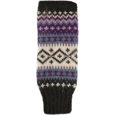 Andes Gifts Sierra Knit Arm Warmers: Purple