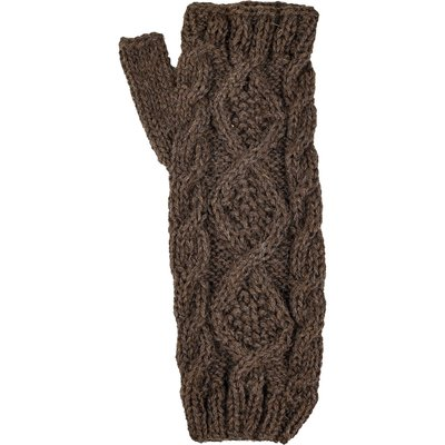 Andes Gifts Braided Pom Knit Arm Warmers: Natural