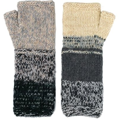 Andes Gifts Altiplano Knit Arm Warmers: Grey