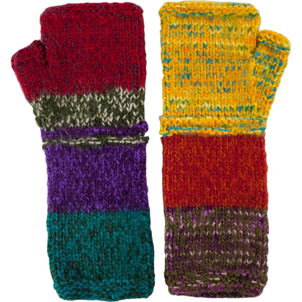 Andes Gifts Altiplano Knit Arm Warmers: Sunset