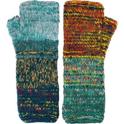 Andes Gifts Altiplano Knit Arm Warmers: Teal