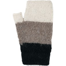 Andes Gifts Tres Alpaca Wrist Warmers: Ash