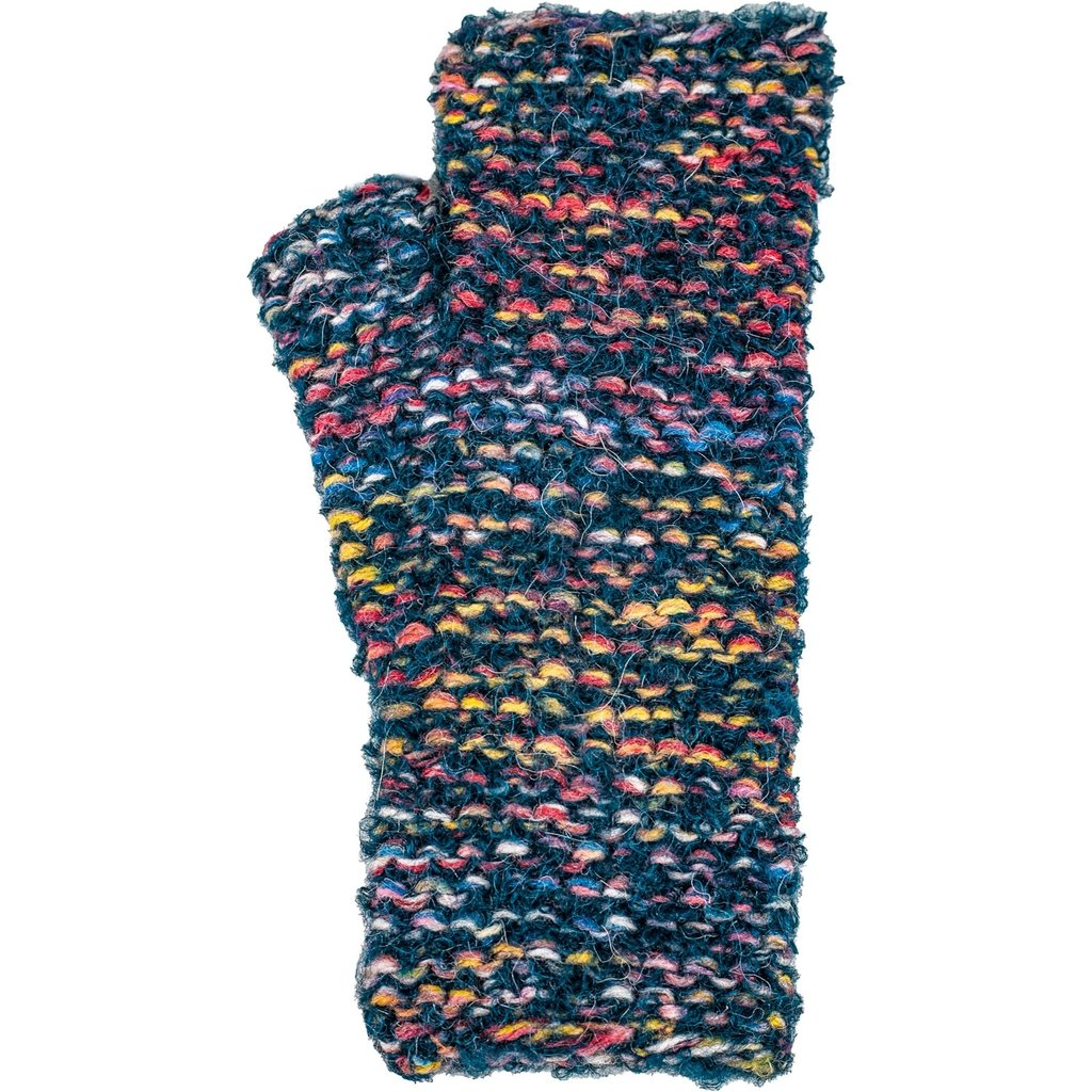 Andes Gifts Lima Blended Knit Wrist Warmers: Aqua