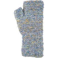 Andes Gifts Lima Blended Knit Wrist Warmers: Blue