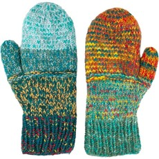 Andes Gifts Altiplano Knit Mittens: Teal