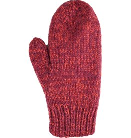 Andes Gifts Blended Knit Mittens: Berry