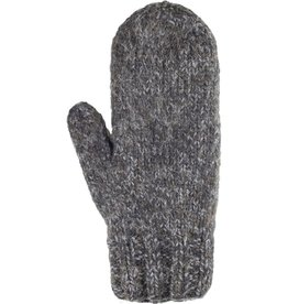 Andes Gifts Blended Knit Mittens: Black