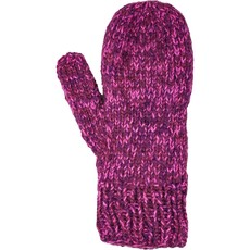 Andes Gifts Blended Knit Mittens: Burgundy
