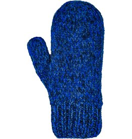 Andes Gifts Blended Knit Mittens: Cobalt