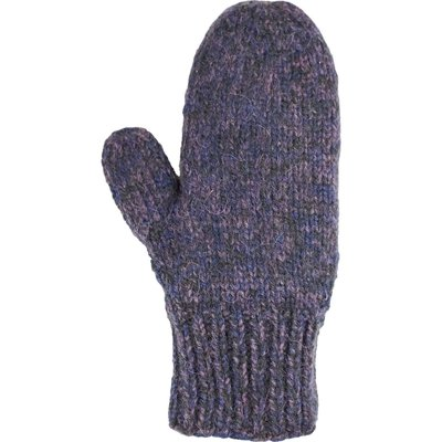 Andes Gifts Blended Knit Mittens: Grape