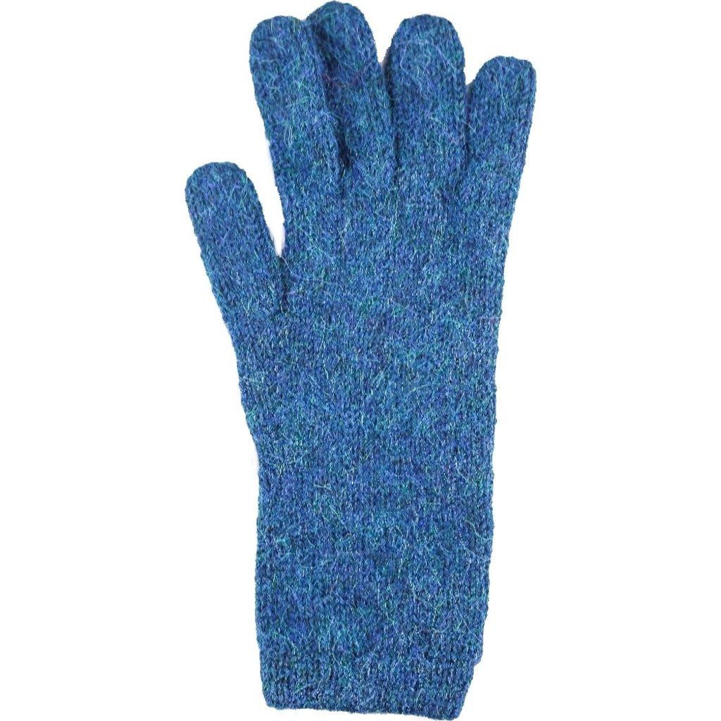 Andes Gifts Milkshake Alpaca Gloves: Aqua