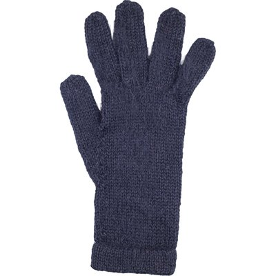 Andes Gifts Milkshake Alpaca Gloves: Black