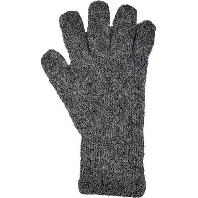 Andes Gifts Milkshake Alpaca Gloves: Grey