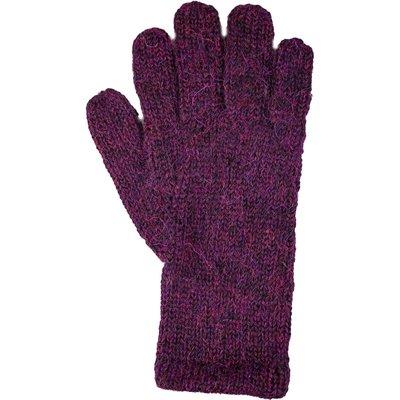 Andes Gifts Milkshake Alpaca Gloves: Wine