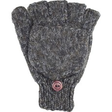 Andes Gifts Blended Knit Glittens: Black