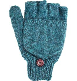 Andes Gifts Blended Knit Glittens: Aqua