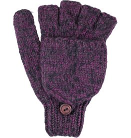 Andes Gifts Blended Knit Glittens: Grape