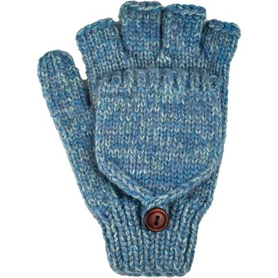 Andes Gifts Blended Knit Glittens: Powder Blue