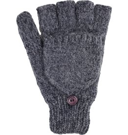 Andes Gifts Blended Large Men's Glittens: Charcoal