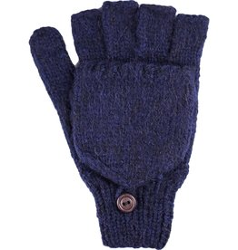 Andes Gifts Blended Large Men's Glittens: Navy
