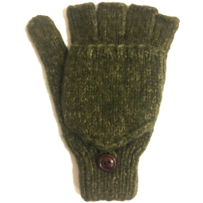 Andes Gifts Blended Large Men's Glittens: Olive