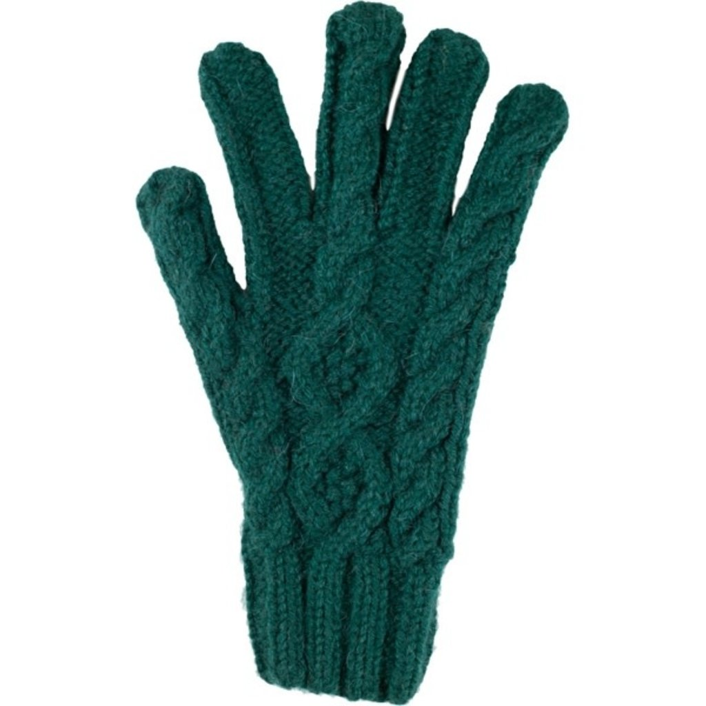 Andes Gifts Cable Knit Glove: Aqua