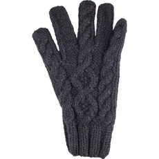Andes Gifts Cable Knit Glove: Black