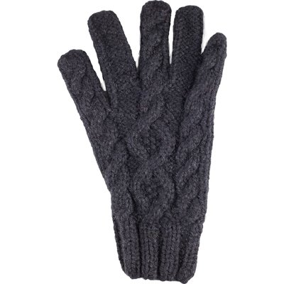 Andes Gifts Blended Cable Knit Gloves: Black