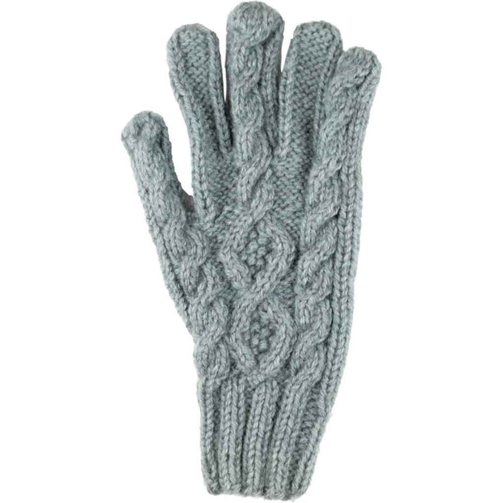 Andes Gifts Cable Knit Glove: Blue