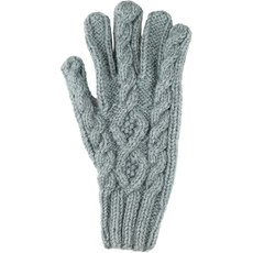 Andes Gifts Blended Cable Knit Gloves: Blue