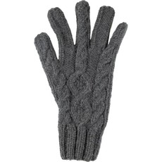 Andes Gifts Blended Cable Knit Gloves: Grey