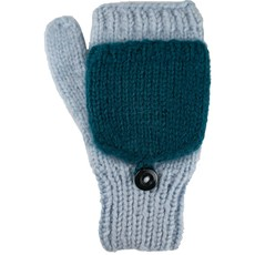 Andes Gifts Fleece-lined Knit Flittens: Blue