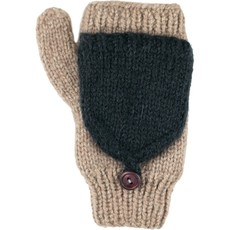 Andes Gifts Fleece-lined Knit Flittens: Cream
