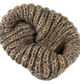 Andes Gifts Blended Knit Neck Warmer: Ash