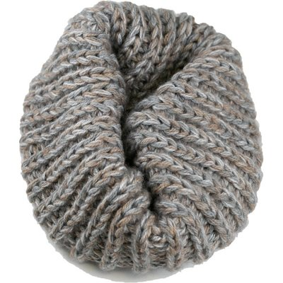 Andes Gifts Blended Knit Neck Warmer: Grey