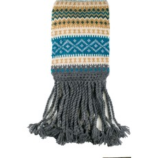 Andes Gifts Sierra Knit Scarf: Aqua
