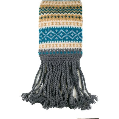Andes Gifts Sierra Knit Scarf: Aqua