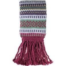 Andes Gifts Sierra Knit Scarf: Berry