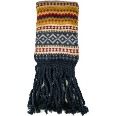 Andes Gifts Sierra Knit Scarf: Black